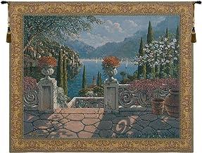 Charlotte Home Furnishing Inc. Belgian Tapestry Wall Hanging, 46 in. x 38 in, 'Italian Terrace'