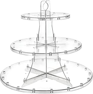 Deflecto 3 Tier Dessert Stand, Adjustable Tiers, Serving Platter, Display Cupcakes, Cake Pops, Fruits and Danish, 13.25