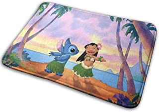 GUOZX Custom Lilo and Stitch Doormats Non Slip Heavy Floor Door Mats Rugs Bahroom Decor Standard Size 15.7 X 23.6 Inches