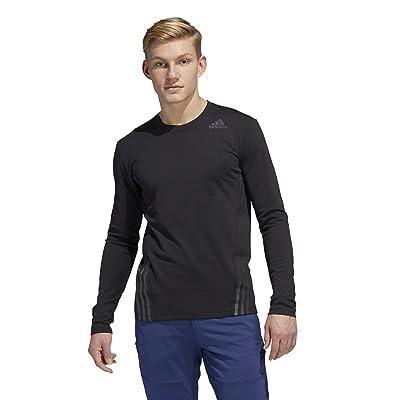 adidas Aero 3-Stripes Cold Weather Long Sleeve Tee (Black) Men
