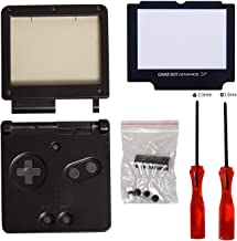 Timorn Full Parts Housing Shell Pack Replacement for Nintendo GBA SP Gameboy Advance SP (Black Pack)