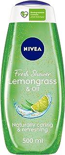 NIVEA Lemongrass & Oil Shower Gel, Caring Oil Pearls, Lemongrass Scent, 500ml, BBD3886