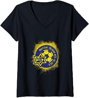 Womens Maccabi Tel Aviv Shirt FC Football club Israel  V-Neck T-Shirt
