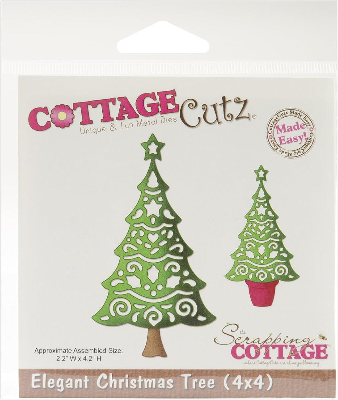 Cottage Cutz Sterben Schnitte, 4 von 4-Zoll, elegant Weihnachtsbaum B00902XRFE  | Attraktives Aussehen