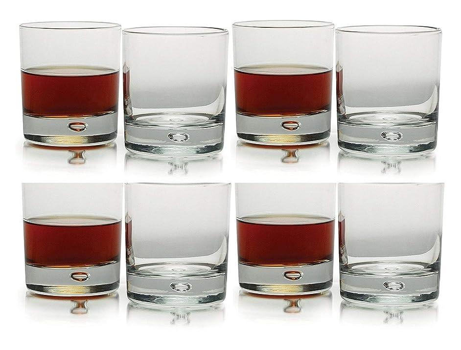 Circleware Air Bubble Heavy Base, Drinking Glasses, Set of 8 (Oslo DOF-8 Pcs)