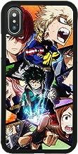 My Hero Academia Anime Manga Comic Theme Case for iPhone X, iPhone Xs Comic TPU Silicone Gel Edge + PC Bumper Case Skin Protective Printed Phone Full Protection Cover