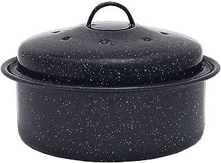 Granite Ware 0517-6 Covered Round Roaster Pan, Black