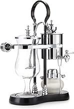 Diguo Belgian Belgium Luxury Royal Family Balance Syphon Coffee Maker (Silver - Black Column)