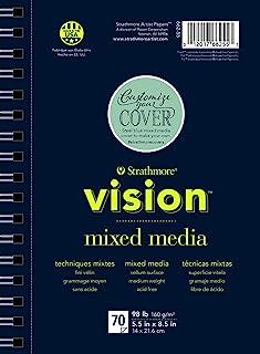 "Strathmore 662-57 Vision Mixed Media Pad, 7""x10"", White, 70 Sheets"