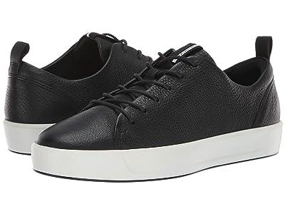 ECCO Soft 8 Sneaker (Black Cow Leather) Women