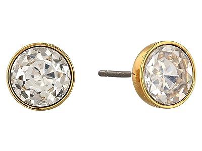 Kate Spade New York Reflecting Pool Mini Round Studs Earrings (Clear/Gold) Earring