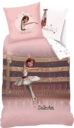 Sahinler Parure di Letto Ragazza Ballerina Parure di Letto Ballerina Cotone Rosa Chiaro 200/x 100/cm