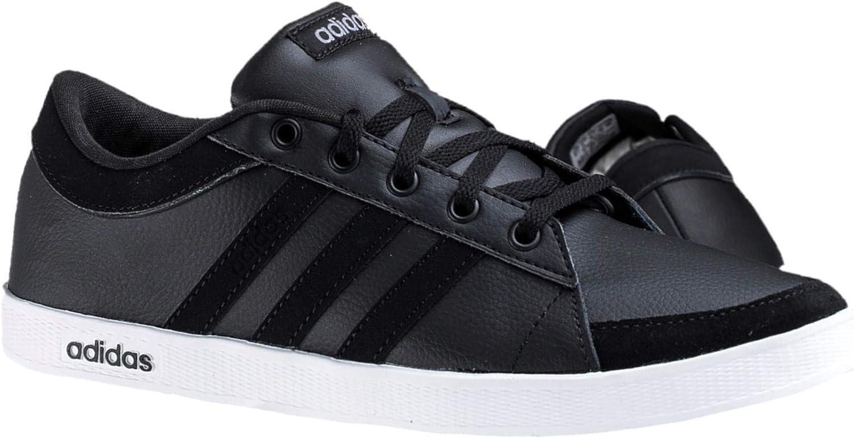 Adidas Calneo Laidback Lo - Zapatillas de piel para hombre, color negro