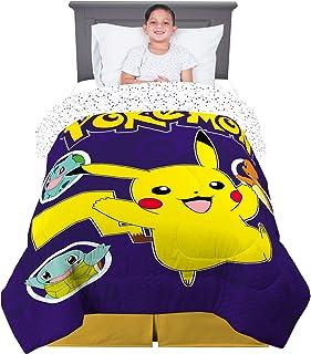 "Franco Kids Bedding Super Soft Microfiber Comforter, Twin Size 64"" x 86"", Pokemon Pikachu"