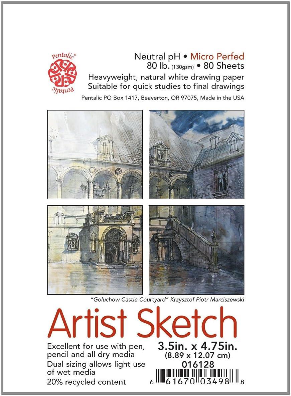 Pentalic Pocket Sketch Pad, 3-1/2-Inch by 4-3/4-Inch