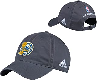 adidas Golden State Warriors Adult 2017 NBA Champions Locker Room Hat - Gray,