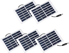 uxcell 5Pcs 1.2W 6V Small Solar Panel Module DIY Polysilicon for Phone Toys Charger with 3Meter Wire