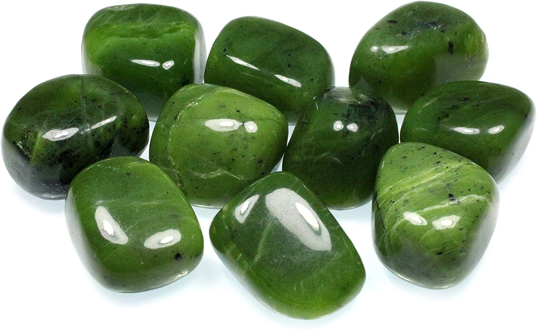 CrystalAge Jade Tumble Stone (20-25mm) - Single Stone: CrystalAge: Health & Personal Care