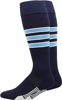 Dugout 3 Stripe Baseball Socks Over the Calf Length (Multiple Colors)