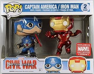Marvel: Civil War - Captain America vs. Iron Man Collectors Corps 2 Pack Funko Pop! Vinyl Figure (Includes Compatible Pop Box Protector Case)