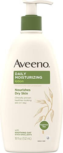 Aveeno Daily Moisturizing Body Lotion with Soothing Oat and Rich Emollients to Nourish Dry Skin, Gentle & Fragrance-F...