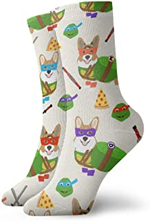Calcetines de algodón para hombre, diseño de Corgi Tmnt 3