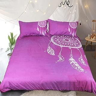 Sleepwish Purple Watercolour Dream Catcher Bedding Set 3 Piece Bohemian Bedding Boho Bedding Girls Women Violet Duvet Cover (Queen)