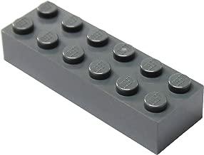LEGO Parts and Pieces: Dark Bluish Gray (Dark Stone Grey) 2x6 Brick x50