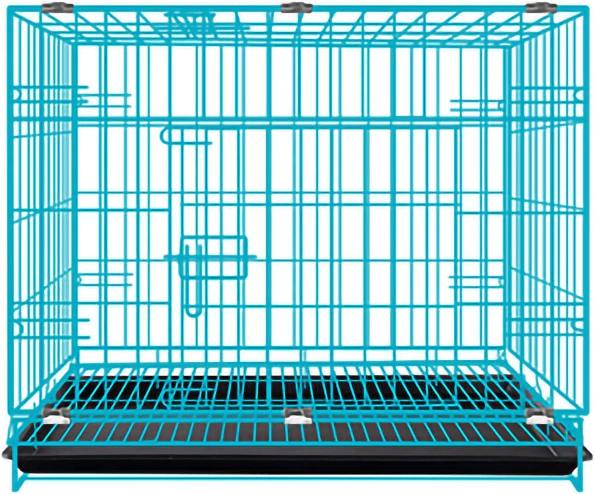 Dog Crate Folding Metal Double Max 52% Denver Mall OFF Crate; Single Door