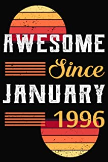 Awesome Since January 1996: 25th birthday gifts for him - Unique Birthday Present Ideas for 25 Years Old Men, Son, Brother...