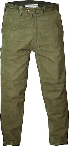 Gerhomme Wear Pantalon de chasse en cuir Kaki marron clair