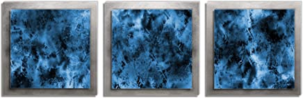 Metal Art Studio Storm Essence Multi-Panel Layered Metal Wall Sculpture, Medium, Blue/Black/Silver