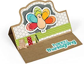 Sizzix 661571 Framelits Die Set with Stamps, Thanksgiving Turkey by Stephanie Barnard, Pack of 10 (9 dies, 8 stamps)