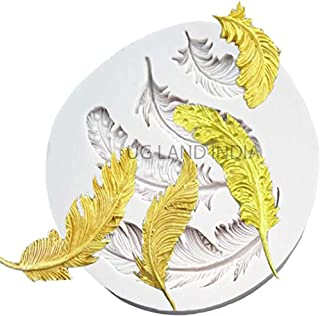 UG LAND INDIA Feather Mold epoxy molds Chocolate Soap Fondant Mold Feathers Silicone Mold Feather Mold Baking molds for DI...