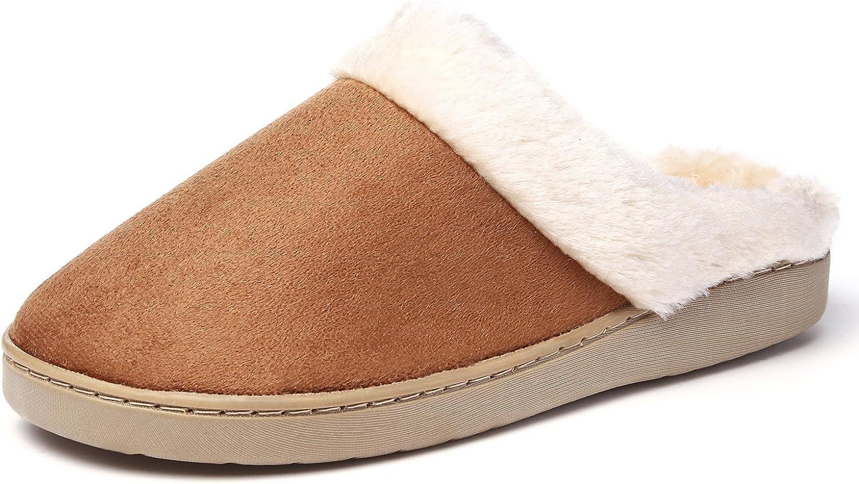 KushyShoo Women's Slip-on Fluffy Winter Clog Slippers