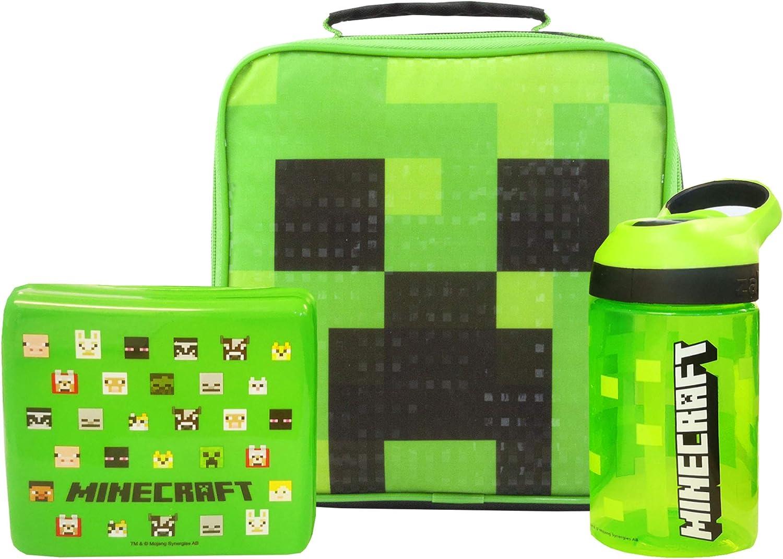 Minecraft enredadera verde de la cara del bolso del almuerzo Conjunto
