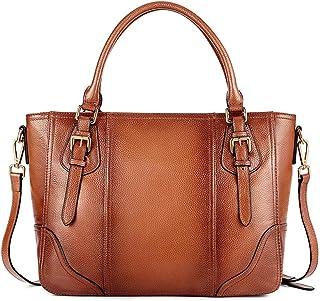 Kattee Women's Leather Purses and Handbags, Top Handle Satchel Shoulder Bag Designer Tote