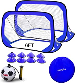 porayhut 4FT Pop Up Kids Soccer Goal and Ball Sets...