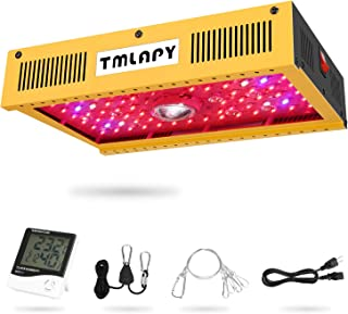 Tmlapy COB 1000W LED Plant Grow Light Full Spectrum Reflector Series LED Grow Light with Single Switch for Hydroponic Greenhouse Indoor Plants Veg and Flower(Actual Power 190watt)