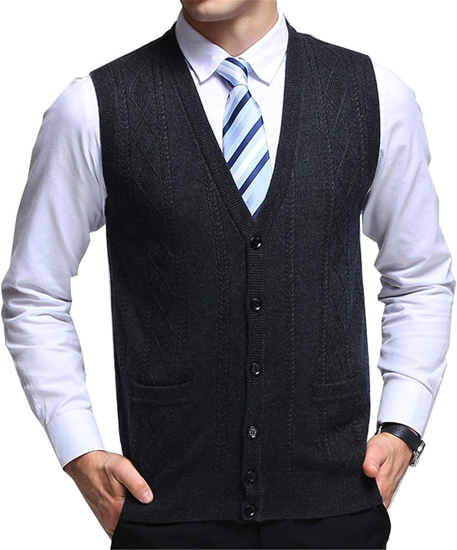 Sweater Men's Cardigan Jacquard Slim Fit Jumpers Knitwear Vest Autumn Korean Style Casual Mens