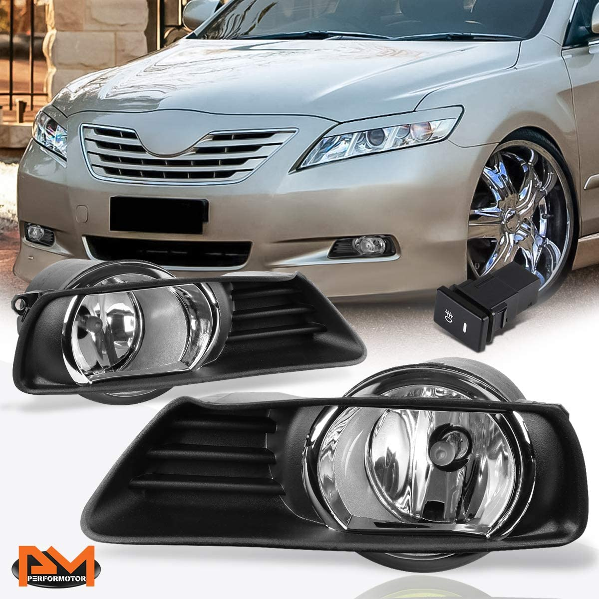 Clear Lens Front Bumper Chicago Mall Driving Fog Light Bezel+Switch Co free shipping w Lamp