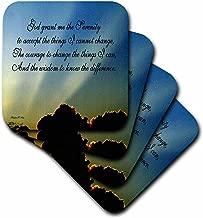 3dRose CST_9200_3 The Serenity Prayer-Ceramic Tile Coasters, Set of 4