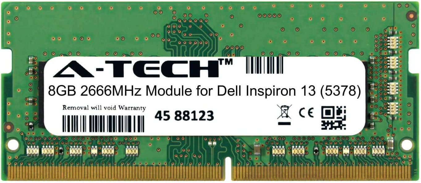 A-Tech 8GB Module for Dell Courier shipping free Max 86% OFF Notebook Inspiron 13 Laptop 5378