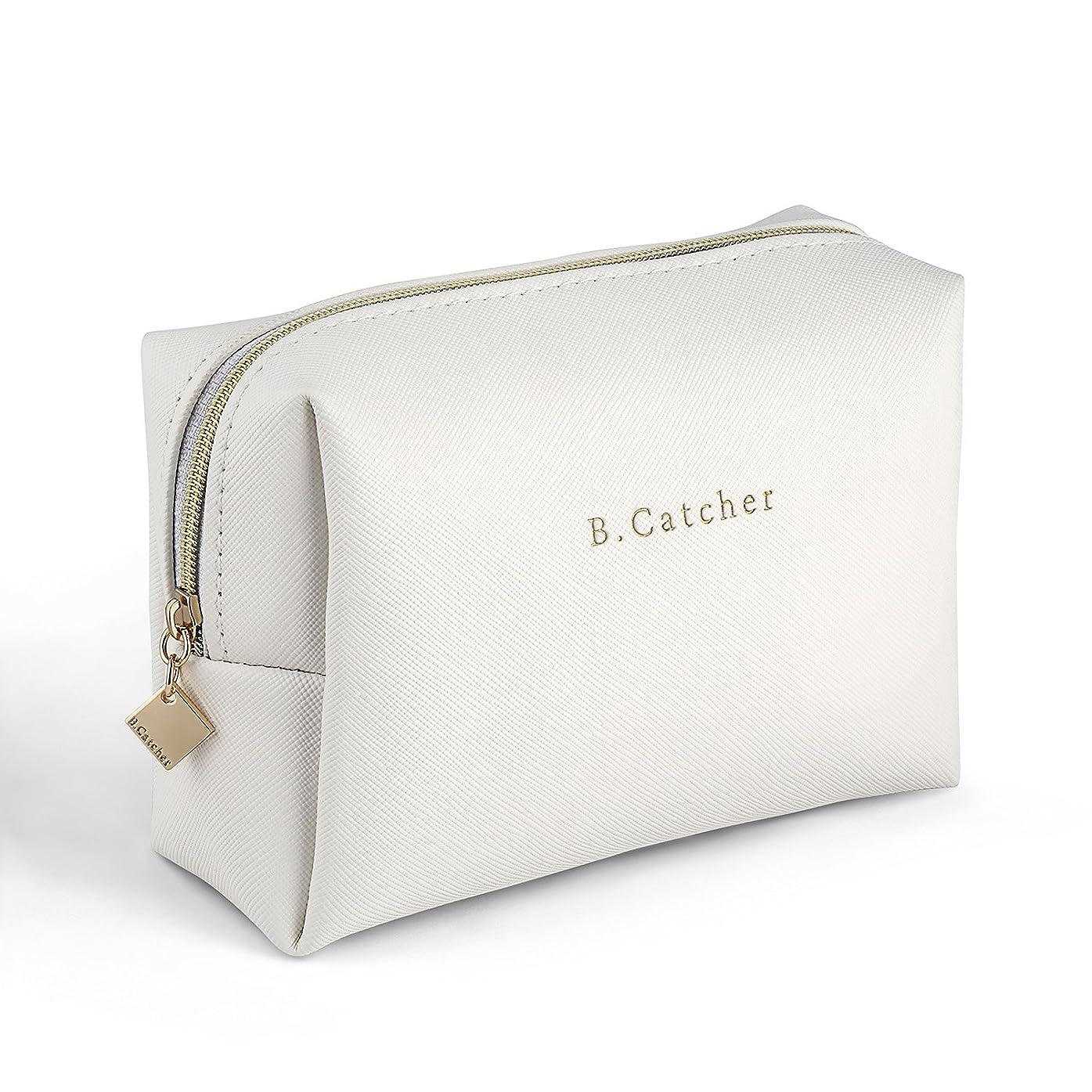 グリーンランド健全原点B.Catcher白いキャンバス化粧ポーチ メイクバッグ ミニシンプルな化粧品袋 ポータブルリップスティック収納袋 携帯用 収納用 便利 旅行用