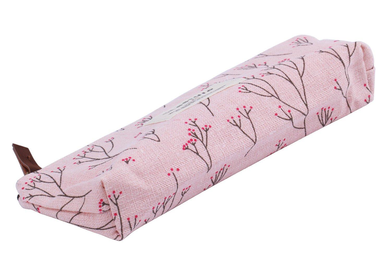 Ocamo Countryside - Estuche para Lápices, Diseño de Flores, Color Rosa: Amazon.es: Hogar