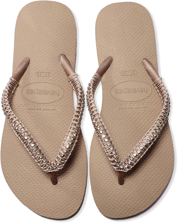 Havaians Women Hand Made Flip Flop Braded Beach Sandals