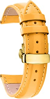 Watch Band Leather Watch Strap Genuine Leather Colorful Replacement Deployment Buckle