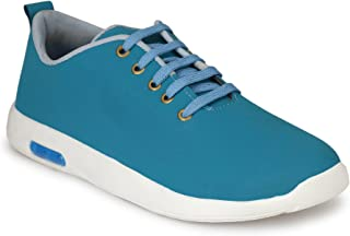 HEEDERIN Men's Sky Blue Synthetic Lace up Decent Style Sneaker 6 UK