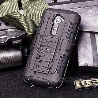 Cocomii Robot Armor LG G2 Mini Funda Nuevo [Robusto] Superior Funda Clip para Cinturón Soporte Antichoque Caja [Militar Defensor] Cuerpo Completo Sólido Case Carcasa for LG G2 Mini (R.Black)