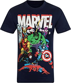 3ae8908d17e Marvel Hombres Comics Characters Camiseta